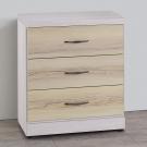 Homelike 莎莉三斗櫃(白栓木紋雙色)-61x40x71cm