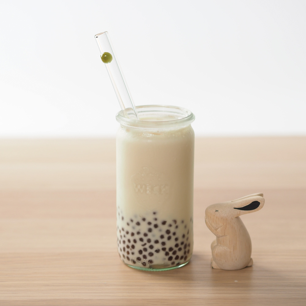 美國strawesome手工玻璃吸管/寬口直式-酪梨綠