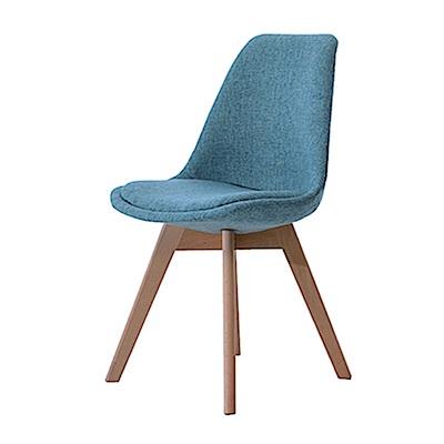 品家居 黛芙妮亞麻布實木造型餐椅(二色可選)-52x48.5x82cm免組