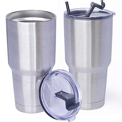 304不鏽鋼雙層保冷/保溫杯900ml二個