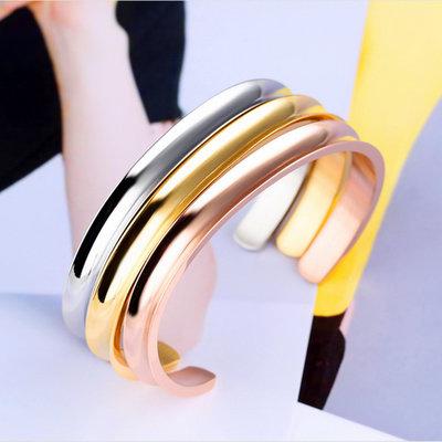 ACUBY-鋼製簡約手環-白K
