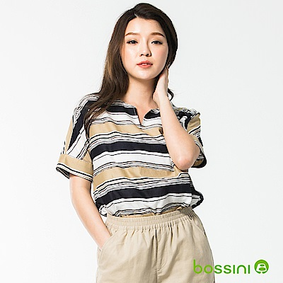 bossini女裝-短袖造型襯衫02橄欖灰