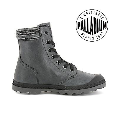 Palladium Pallabosse off Lea-女-黑/深鐵灰