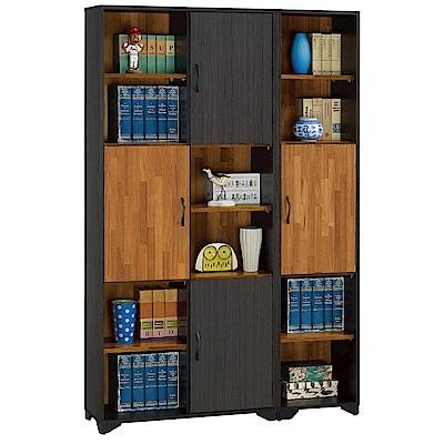 品家居 摩菲3.9尺半開放式四門書櫃-118.3x30.3x186.5cm免組