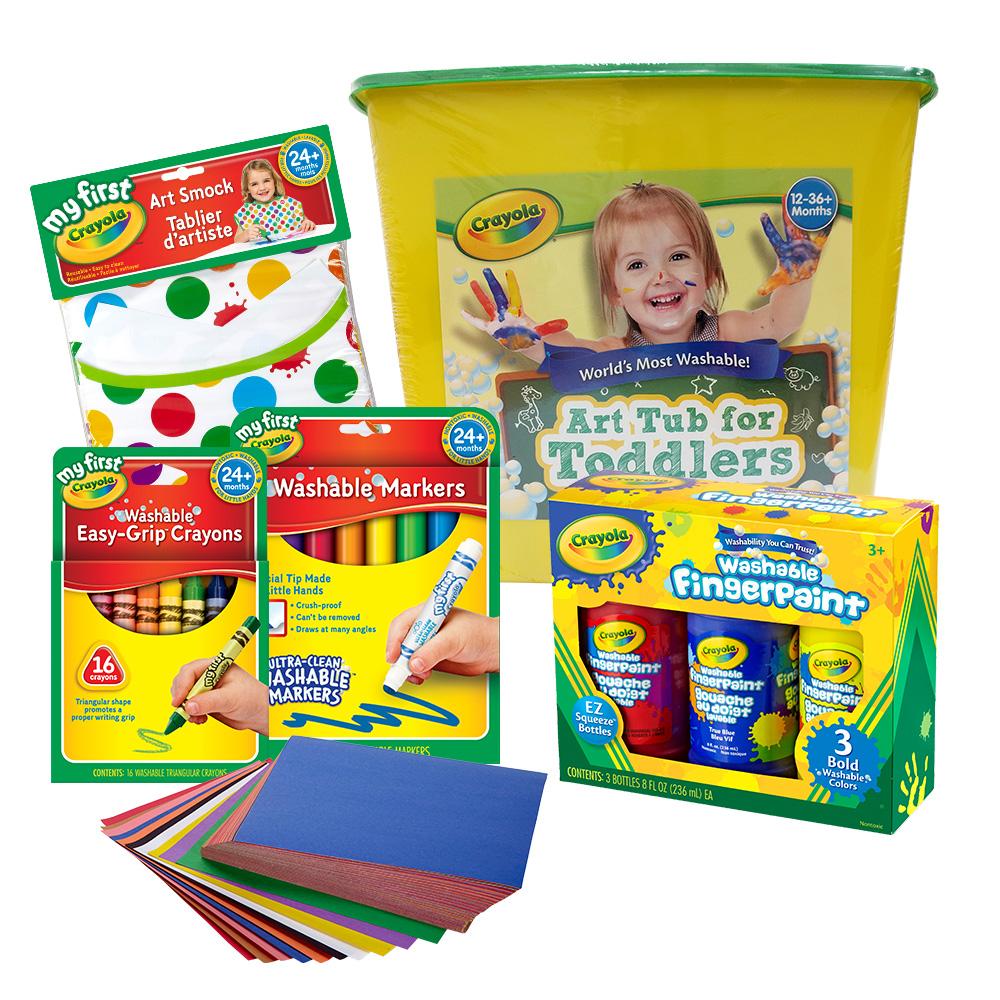 美國crayola 繪兒樂 幼兒夏日塗鴉超值組(1-3Y+)