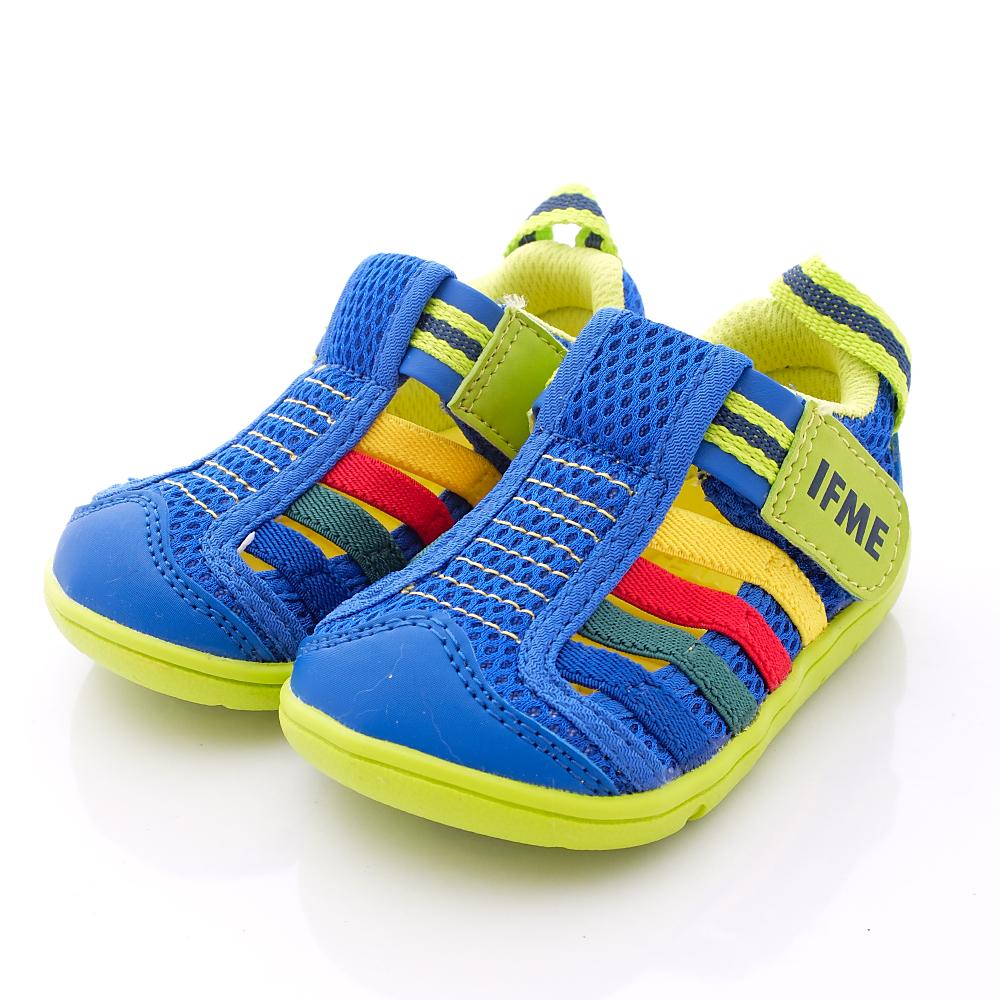 IFME健康機能鞋-涼夏粉嫩機能款-500465藍(寶寶段)-N