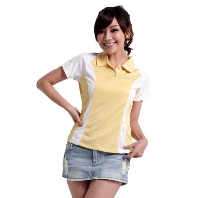 【遊遍天下】女款抗UV吸濕排汗機能POLO衫MS 019 鵝黃