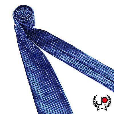 極品西服 100%絲質義大利手工領帶_藍底方格紋(YT5079)