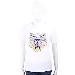 KENZO Tiger 虎頭印花白色棉質T恤