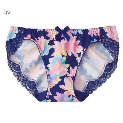 aimerfeel 水晶花卉無痕內褲-深藍色