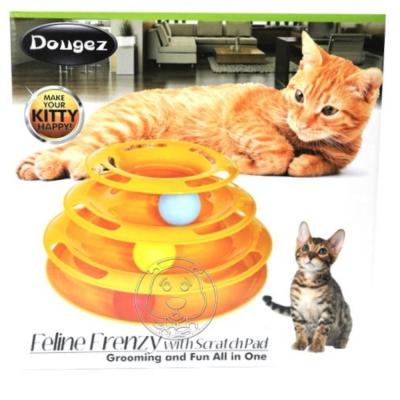 外銷日單》貓用三層益智瘋狂遊樂盤.
