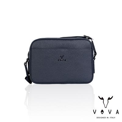 VOVA -  波隆納系列十字紋斜背包-小 - 午夜藍