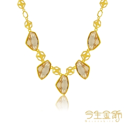今生金飾  幾何項鍊  時尚黃金項鍊
