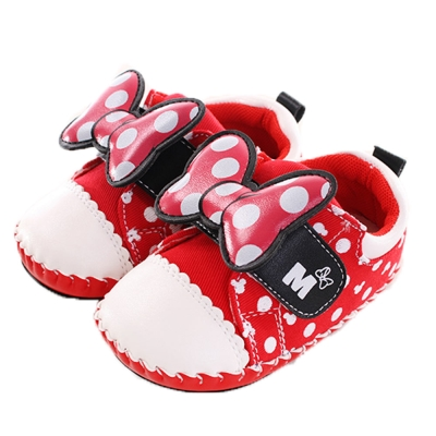 迪士尼米妮真皮中底寶寶鞋  sh9886