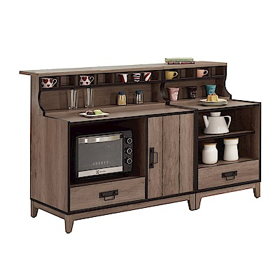 品家居 謝達爾5.3尺中島型餐櫃組合-160x73.8x105cm免組