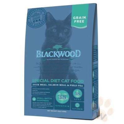 柏萊富blackwood 特調無穀全齡貓配方(鴨肉+鮭魚+豌豆)4磅