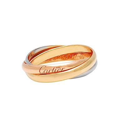Cartier卡地亞TRINITY三色金環造型18K婚戒(小型款)