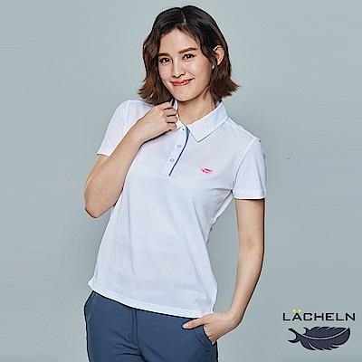 【LACHELN】COOLMAX女拼接POLO衫(L82W903)