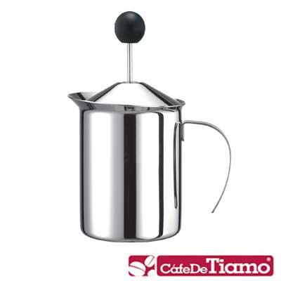 Tiamo 不鏽鋼雙層彈簧奶泡杯400cc(HA2234)