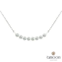 amoon 日式鉑金系列 相連 鉑金鑽石項鍊