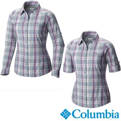 【美國Columbia哥倫比亞】女-快排防曬30襯衫-紫  UAR70770PL