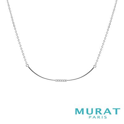 MURAT Paris米哈巴黎 微笑曲線水鑽項鍊