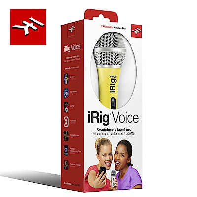 IK Multimedia iRig Voice Yellow 行動裝置麥克風 亮麗黃