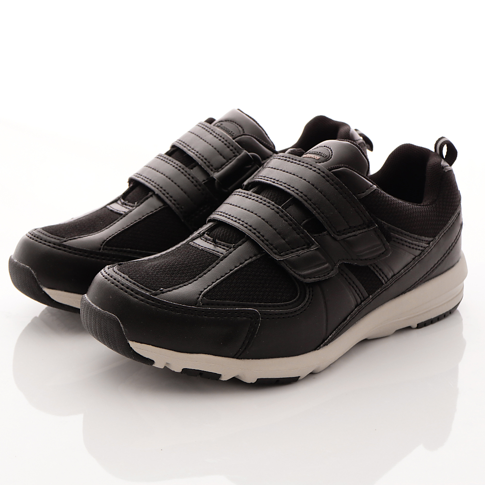 日本Supplist戶外健走鞋-防潑水4E輕量款-ON536黑(女段)
