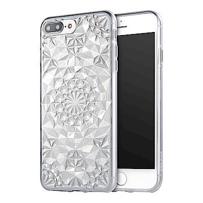 Carlgold 水晶系列 iPhone 7/8 Plus 3D立體鑽石紋保謢殼