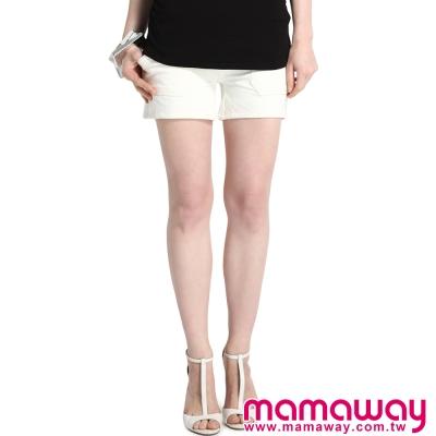 孕婦褲 短褲 孕期超軟針織孕婦短褲(共二色) Mamaway