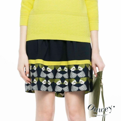 OUWEY歐薇-金髮娃娃緹織細褶裙