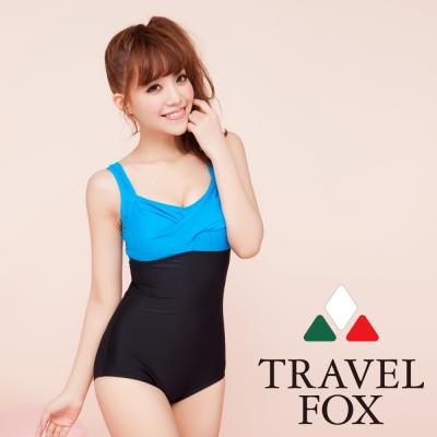 夏之戀TRAVEL FOX  時尚運動款大女連身三角泳裝 (M~2L)