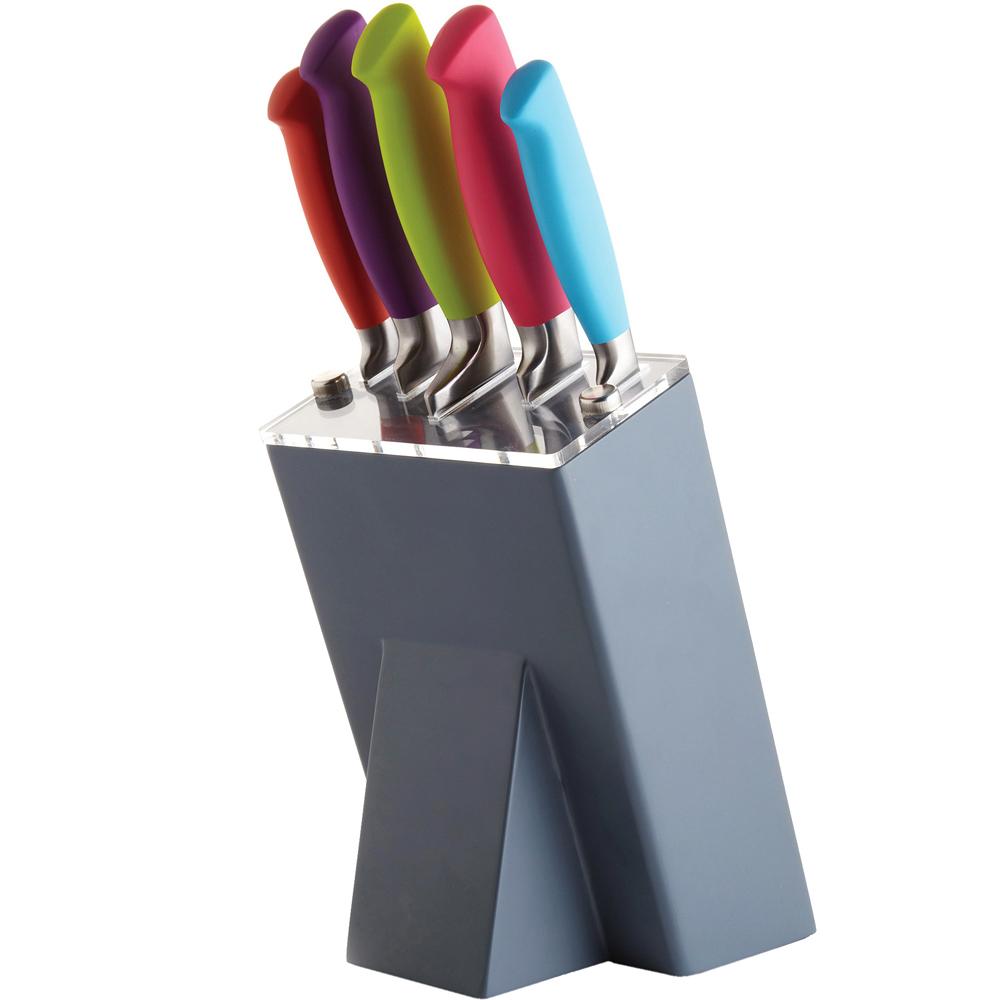 KitchenCraft 斜角座+刀具5件組
