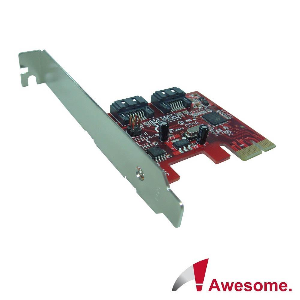 Awesome PCIe 2.0雙槽SATAIII磁碟陣列卡-AWD-PE-115
