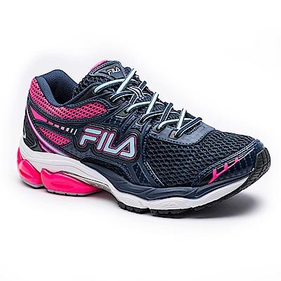 FILA 女款ENERGIZED專業慢跑鞋-丈青粉 5-J029S-351