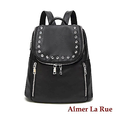 Aimer La Rue 後背包 貝卡斯鉚釘系列(黑色)