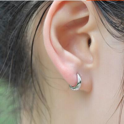 梨花HaNA   925純銀簡約光感圈圈小耳環精裝版