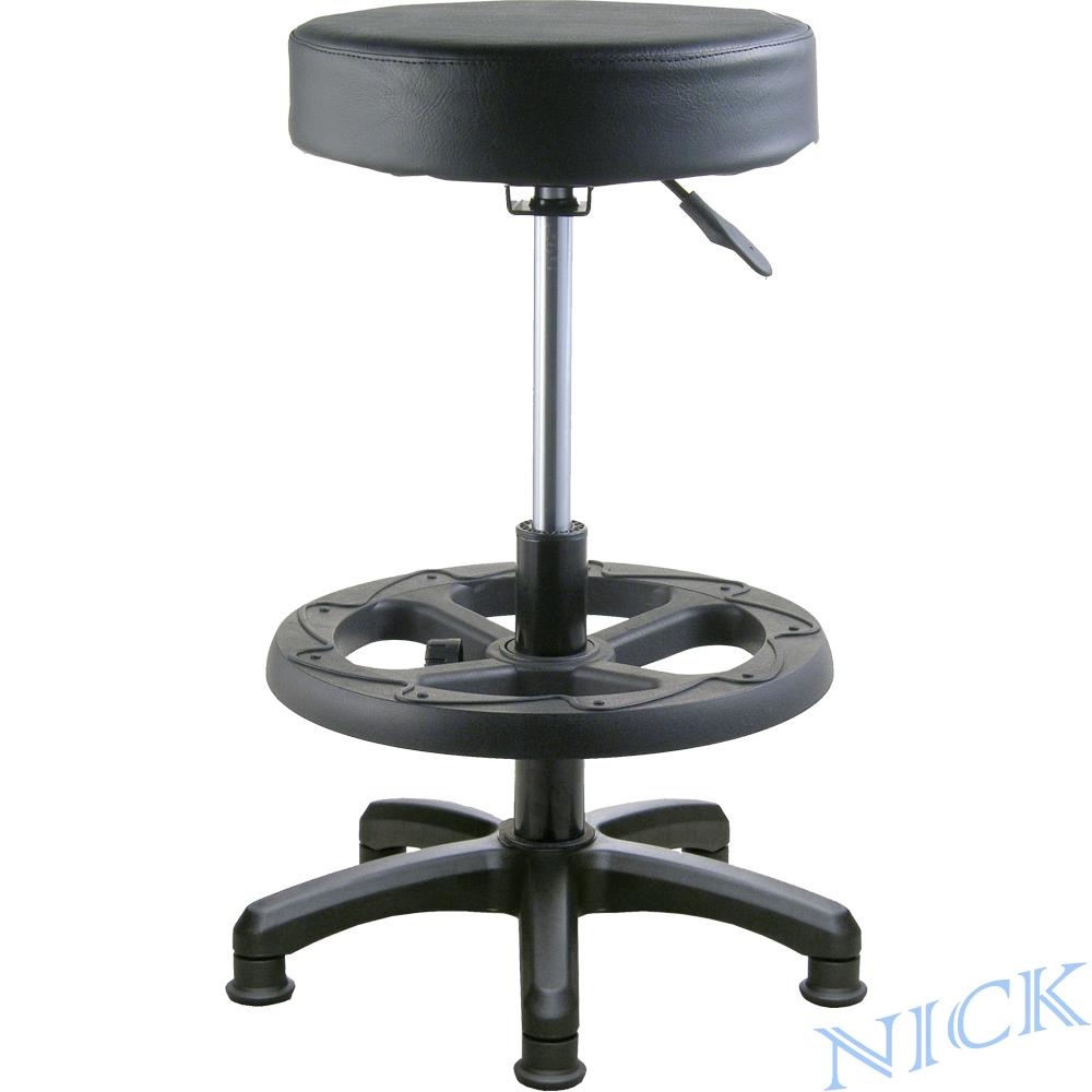 NICK 高腳圓型吧檯椅(固定腳/可調式腳踏圈/三色)