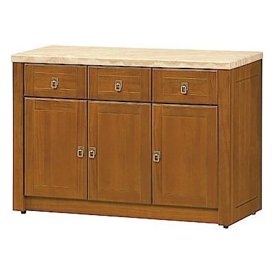 品家居 畢克5.2尺石面餐櫃下座-157x45x81cm免組