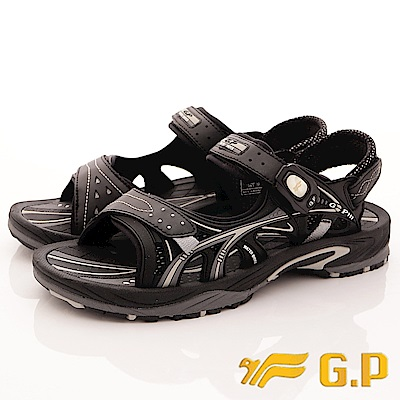 GP時尚涼拖-磁扣兩穿水涼鞋-SE 624 M- 17 黑(男段)