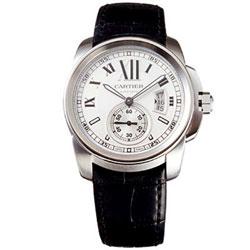 CARTIER Calibre De Cartier 小秒針機械腕錶-白面/42mm