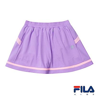 FILA KIDS 女童抗UV吸濕排汗裙褲-淡紫5SKS-4322-MV