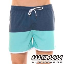 WAXX海灘遊俠快乾型男海灘褲(海藍色)(15英吋)