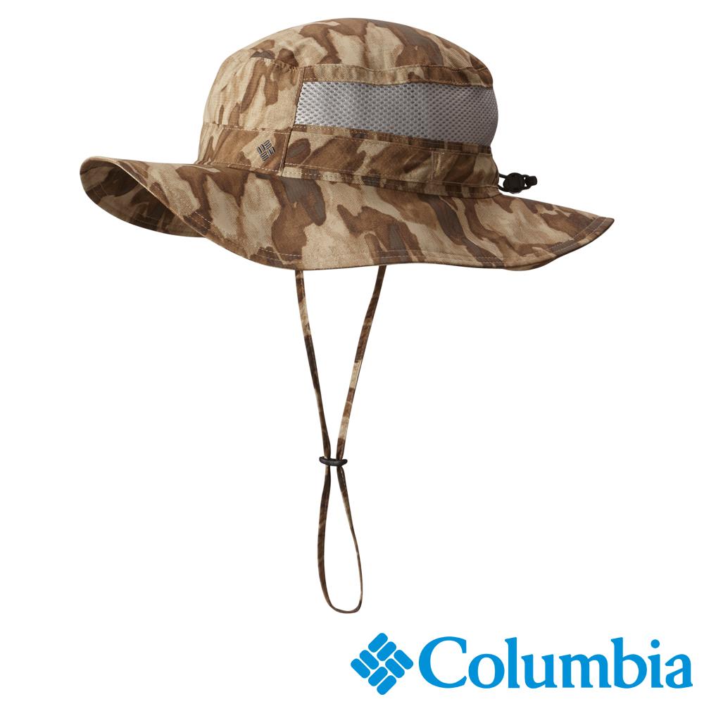 Columbia哥倫比亞 男女-防曬50快排遮陽帽-棕迷彩 UCU91620BU