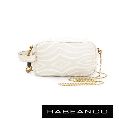 RABEANCO-絕美經典系列羊皮鏈帶手拎包-白