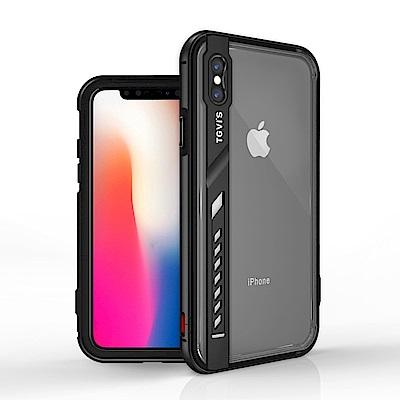 TGVI'S iPhone X 鋒銳系列鋁合金立架透明背板手機殼