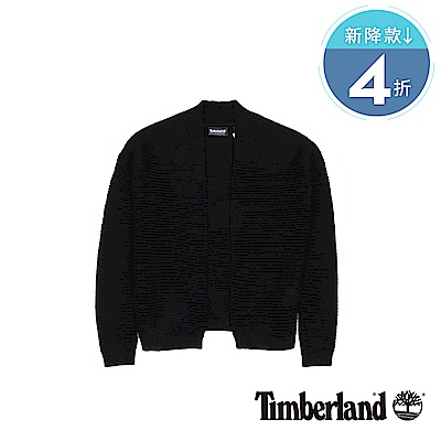 Timberland  女款黑色Pine Point 棉質開襟衫