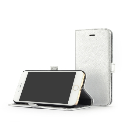 STORY皮套王 iphone 6 /6s  摺邊折疊式 十字紋銀現貨皮套