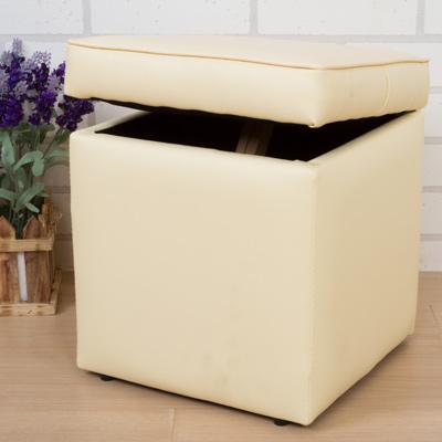 愛莉皮面掀蓋收納椅(6色)