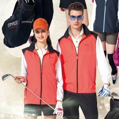 【SPAR】防潑水處理中性款單面穿背心(SP7623A)螢光橘色